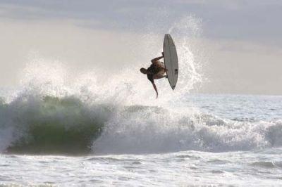 Surfing at Playa Avellanas Costa Rica - small