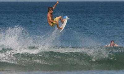 Surfing at Playa Grande - small