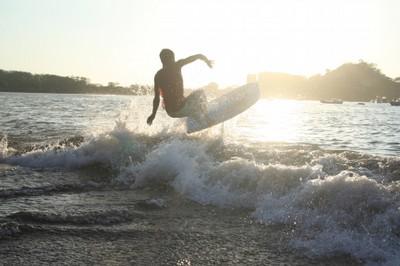 Local Surfing at Playa Potrero Costa Rica - small