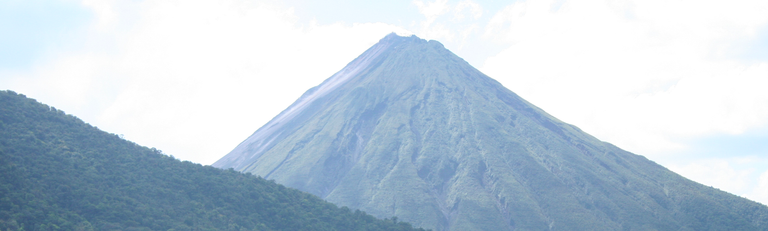 View of Arenal Volcano from the Canopy platform