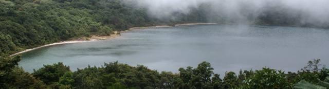secondary Crater Lake of Poas Volcano in Alajuela - Costa Rica
